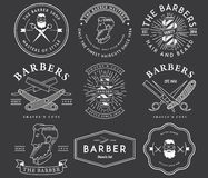 Barber style white Stock Image
