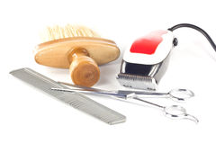 Barber tool set Royalty Free Stock Images