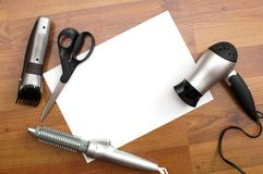 Barber tools Stock Images