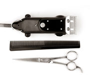 Barber tools Royalty Free Stock Images