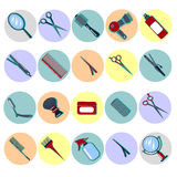 Barber Tools. Hairdresser Tools. Hair Beauty. Hair Accessories Royalty Free Stock Photos