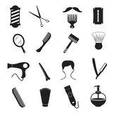 Barber Tools and Men Hairstyle Equipments Stock Photo