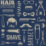 Barber Tools Seamless Texture Vector Illustration Libre de Droits