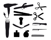 Barber tools Stock Photos