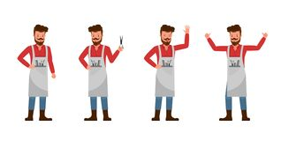 Free Barber Vector Character Design No3 Stock Photography - 197266402