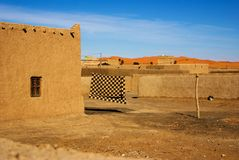 Barber village in Morocco. Houses of barber village close to the desert Stock Image