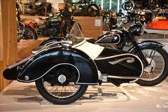 Barber Vintage Motorsports Museum in Leeds, Alabama. The museum has over 1,450 vintage and modern motorcycles and racing cars royalty free stock images