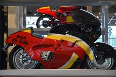 Barber Vintage Motorsports Museum in Leeds, Alabama. The museum has over 1,450 vintage and modern motorcycles and racing cars royalty free stock photos