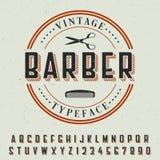 Barber Vintage Typeface Poster Fotografie Stock Libere da Diritti
