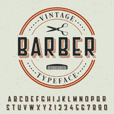 Barber Vintage Typeface Poster Royalty Free Stock Photos