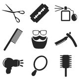 Barber web and mobile icons collections. Vector. Royalty Free Stock Photography