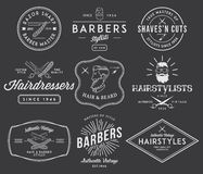 Barber 2 white Royalty Free Stock Image