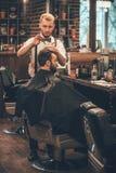 Barber at work. royalty free stock photos