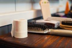 Barber& x27; s-Tabelle Lizenzfreie Stockfotografie