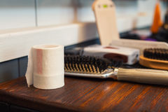 Barber's table Royalty Free Stock Photography