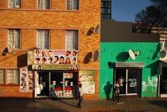 Barberare i Johannesburg Arkivbilder