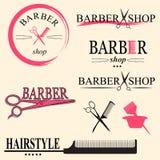 Barberarelogo royaltyfri illustrationer