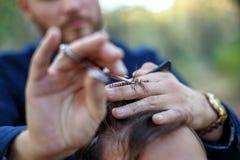 Barberaren Fotografering för Bildbyråer