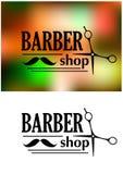 Barberaren shoppar emblemet Royaltyfri Bild