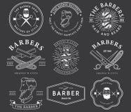 Barberarestilvit Fotografering för Bildbyråer