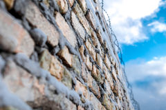 Barbered wire on boundary Stock Photography
