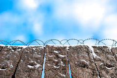 Barbered wire on boundary Stock Images
