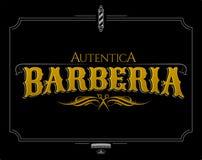 Barberia Autentica, texto auténtico del español de la barbería stock de ilustración