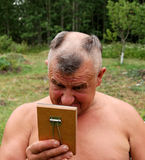 barbering的人 免版税库存照片