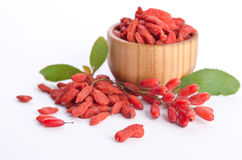 Barberries and goji berries Stock Photography