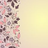 Barberry border, hand-drawn berry pattern. Royalty Free Stock Image