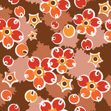 Barberry crimson pattern. Decorative seamless crimson barberry pattern Royalty Free Stock Photo