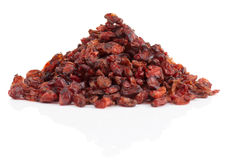 Barberry heap  on white background Stock Photos
