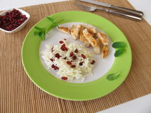Barberry rice with chicken Stock Image
