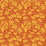 Barberry seamless pattern. silhouette of berry or plants Royalty Free Stock Photo