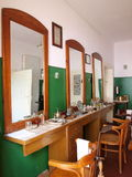 At the barbers, Lublin, Poland Stock Photography