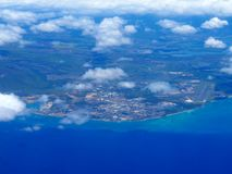 Barbers Point, and Pearl Harbor of Oahu in the state of Hawaii royalty free stock photo