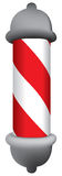 Barbers pole Stock Photo