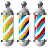 Barbers pole set Stock Image
