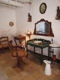 Barbers saloon, Grotta Mangiapane, Scurati, Sicily, Italy Stock Image