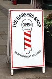 Barbers shop sign, Leominster. Royalty Free Stock Images