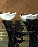Barbershop. Inside a barbershop royalty free stock image