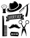 Barbershop accessory set. Vector illustration for your design, eps10 Stock Images