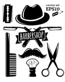 Barbershop accessory set. Vector illustration for your design, eps10 Stock Image