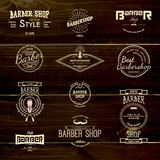 Barbershop badges logos and labels for any use Royalty Free Stock Images