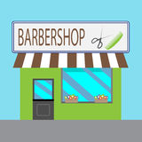 Barbershop building cartoon style Stock Photography