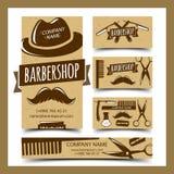 Barbershop cards set Royalty Free Stock Image
