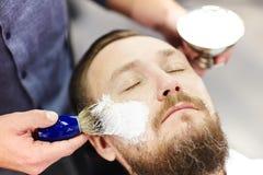 At barbershop Stock Image