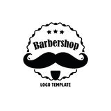 Barbershop Company Logo Template Photographie stock libre de droits