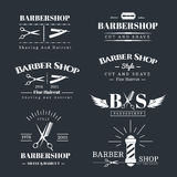 Barbershop design elements Royalty Free Stock Image