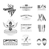 Barbershop design elements Royalty Free Stock Images